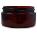 Amber PET Jar, Heavy Walled Low Profile - 8 oz