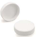 White Ribbed Lid 48-400 unlined