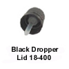 Black Lid w/ Inverted Dropper Tip 18-400