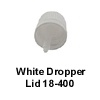 White Lid w/ Inverted Dropper Tip 18-400