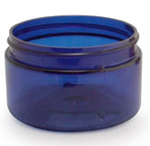 Cobalt Blue PET Low Profile Jar - 4 oz